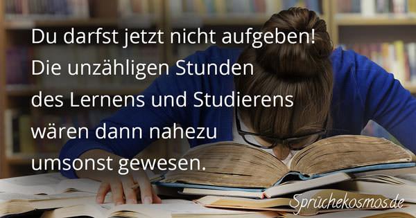 Aufmunternde Sprüche bei Prüfungen | Sprüchekosmos.de